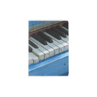 Blue Piano Passport Holder