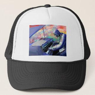Blue Piano Trucker Hat