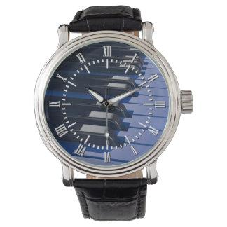 Blue Piano Wrist Watch