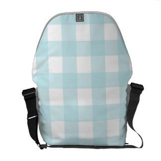 Blue Picnic Pattern Messenger Bag