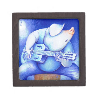 Blue Pig Plectrum Box for Guitar Picks Premium Jewelry Box