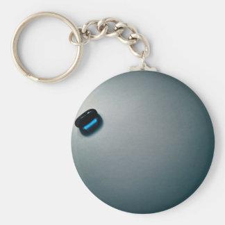 Blue pill keychain