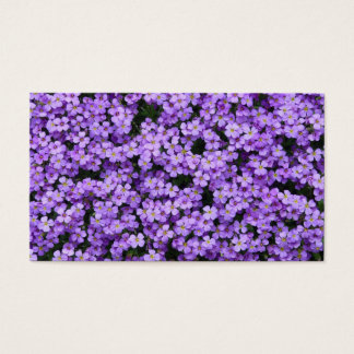 Blue Pillow Flowers Business Card