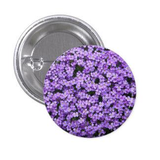 Blue Pillow Flowers Buttons
