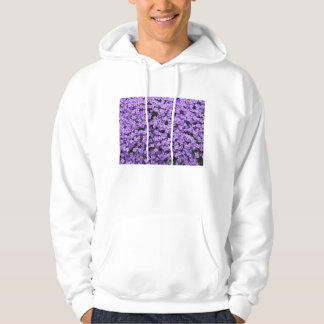 Blue Pillow Flowers Hoodie