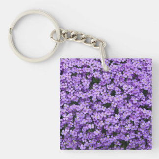 Blue Pillow Flowers Keychain