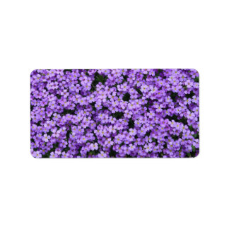 Blue Pillow Flowers Label