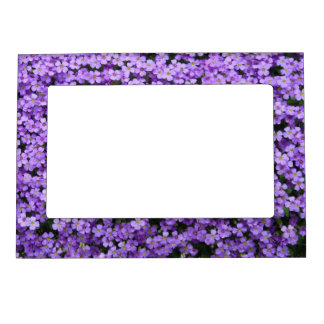 Blue Pillow Flowers Magnetic Picture Frame