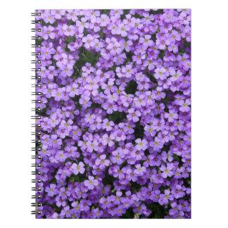 Blue Pillow Flowers Spiral Notebook
