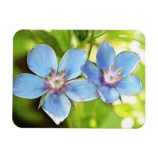 Blue Pimpernel (Anagallis monelli) Flowers Rectangular Photo Magnet