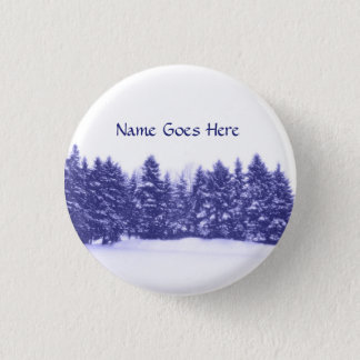 Blue Pine Line Button