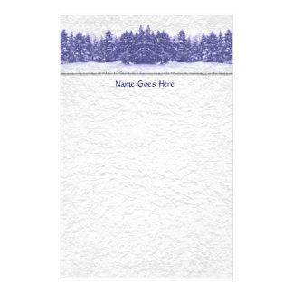 Blue Pine Line Handmade Paper