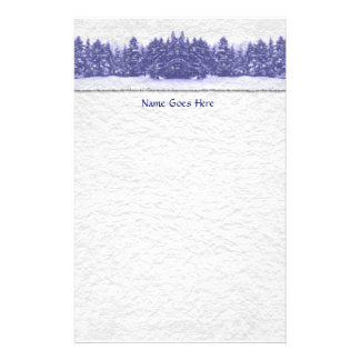 Blue Pine Line Handmade Paper Stationery Paper