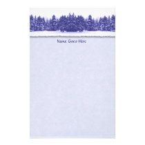 Blue Pine Line Stationery
