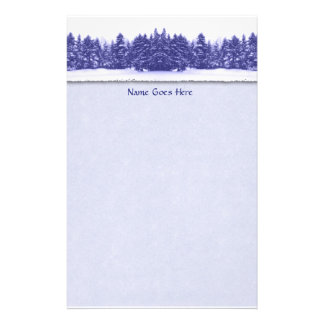 Blue Pine Line Stationery