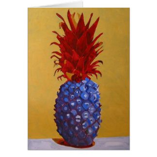 Blue Pineapple Greeting Card / Invitation