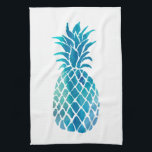 "blue pineapple hand towel<br><div class=""desc"">blue pineapple kitchen towel</div>"