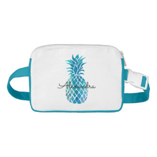 blue pineapple personalized name fanny pack
