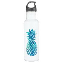 blue pineapple water bottle