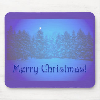 Blue Pines Star Mouse Pad