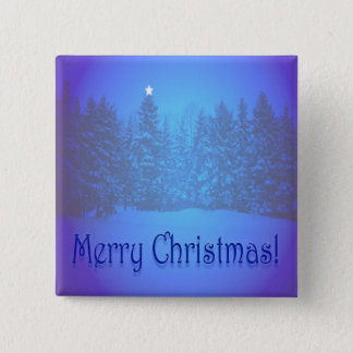 Blue Pines Star Pinback Button