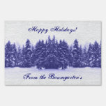 Blue Pines Winter Lawn Signs