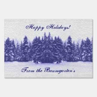 Blue Pines Winter Sign