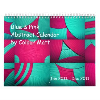 Blue & Pink Abstract 2011 Calendar Wall Calendars