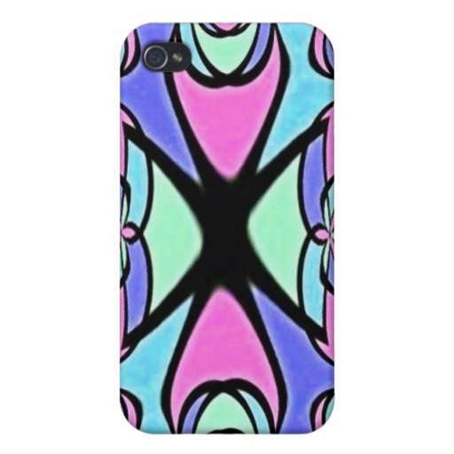 Blue Pink Abstract Design Speck Case iPhone 4/4S Case