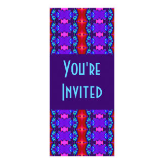 blue pink abstract invite
