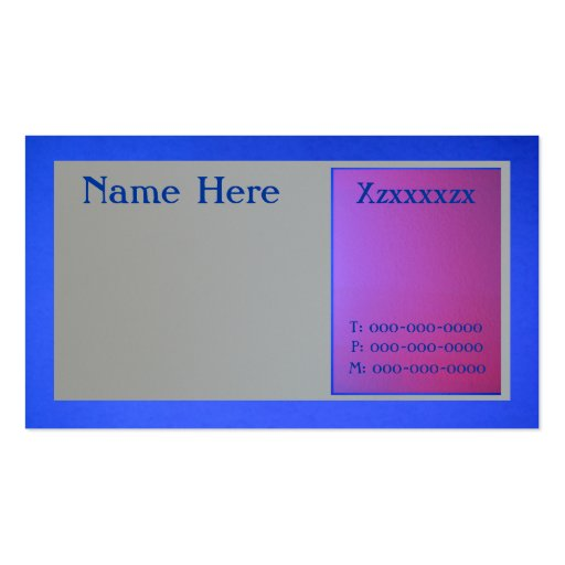 Blue Pink and Gray Business Card Templates