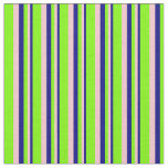 [ Thumbnail: Blue, Pink, and Green Stripes Fabric ]
