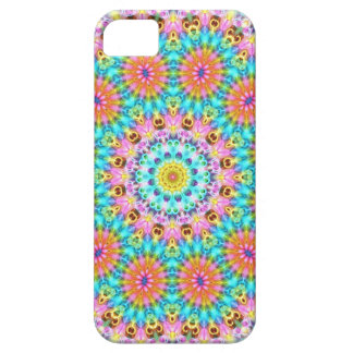 blue pink and orange flowers iPhone SE/5/5s case