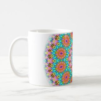 blue pink and orange flowers zazzle_mug