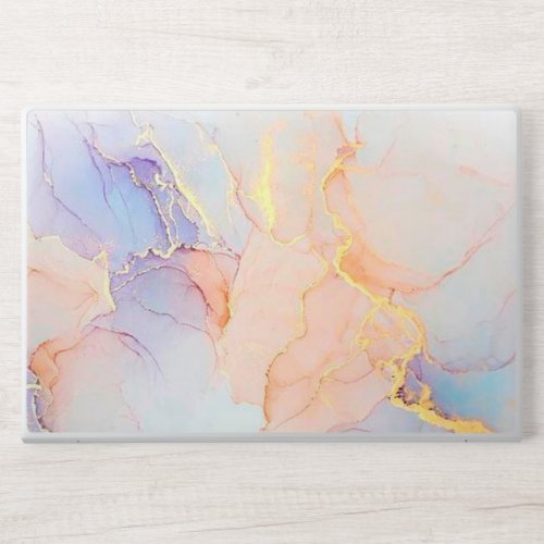 Blue, Pink and  Rose Gold Marble HP Laptop Skin