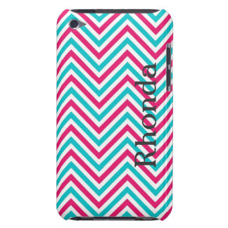 Blue, Pink and White Chevron iPod Touch Case
