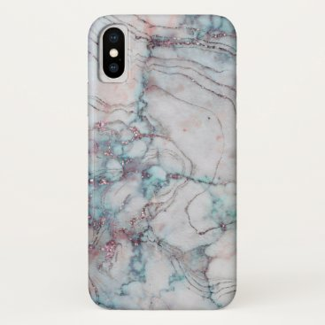 Professional Business Blue, Pink and White Marble Iphone Case