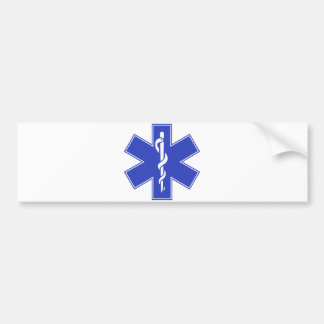 Blue Pink Aqua Baby Hot  Nurse EMS Star of Life Bumper Sticker