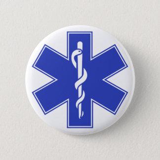 Blue Pink Aqua Baby Hot  Nurse EMS Star of Life Button