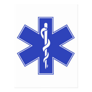 Blue Pink Aqua Baby Hot  Nurse EMS Star of Life Postcard