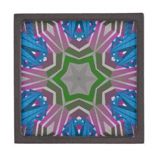 Blue Pink Aztec Pattern Gift Box