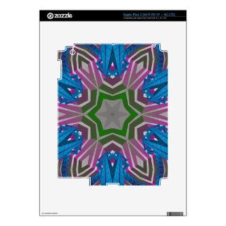 Blue Pink Aztec Pattern iPad 3 Skins