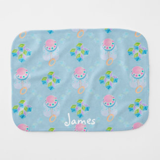 Blue & Pink Baby Burp Cloth