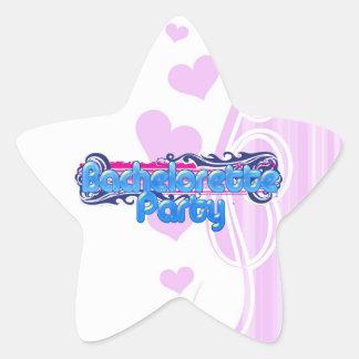 blue pink bachelorette wedding bridal shower party star sticker