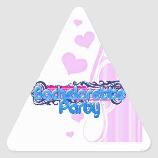 blue pink bachelorette wedding bridal shower party sticker
