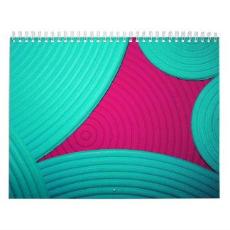 Blue & Pink Calendar (July 2010 - June 2011) Calendars