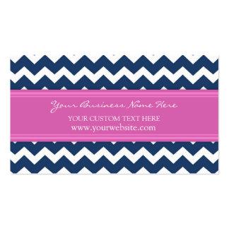 Blue Pink Chevron Retro Business Cards