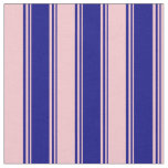 [ Thumbnail: Blue & Pink Colored Lines Pattern Fabric ]