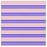 [ Thumbnail: Blue & Pink Colored Pattern Fabric ]