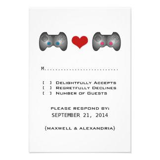 Blue Pink Cute Gamer Response Card